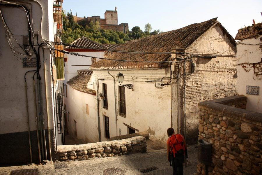 Case spaniole vechi in Albaicin, Granada