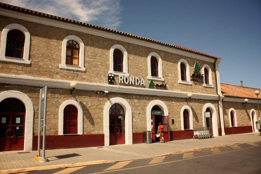 Stația de tren din Ronda, Andalusia, Spania