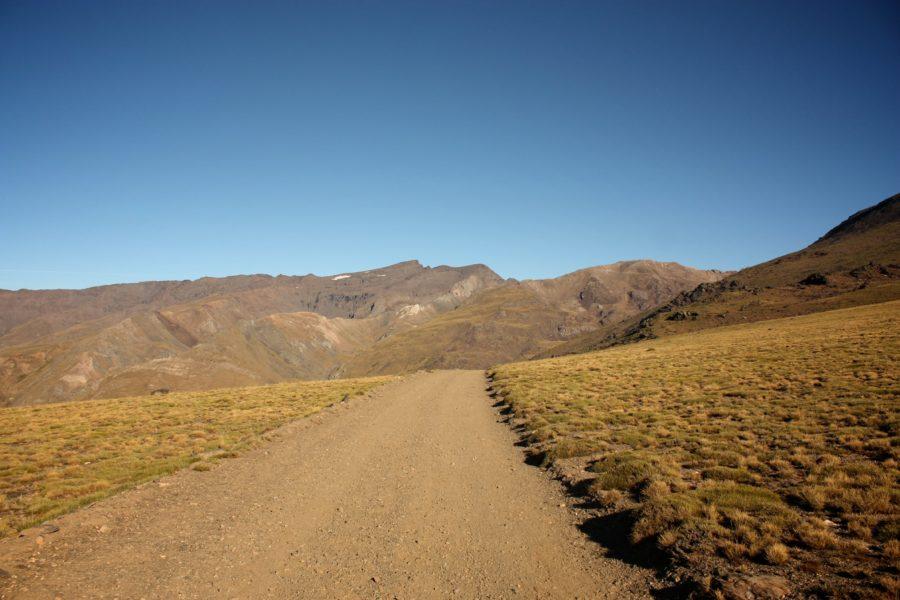 Inceputul traseului spre varful Mulhacen, Alpujarra, Spania