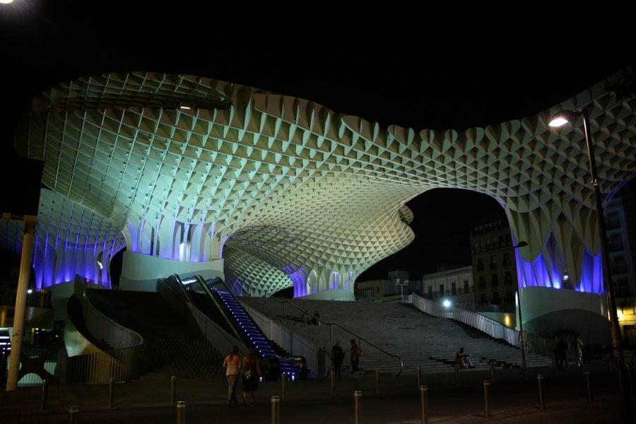Metropol Parasol noaptea, Sevilia