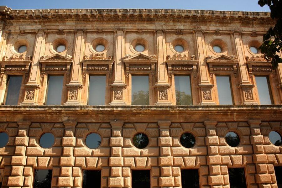 Palatul lui Carlos V, exterior, Alhambra, Granada, Spania