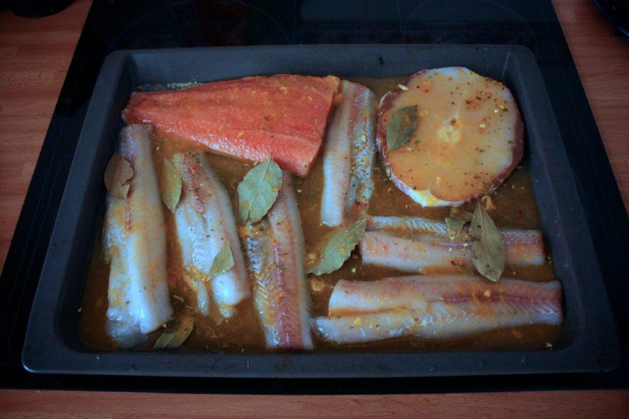 Pește în sos de portocală