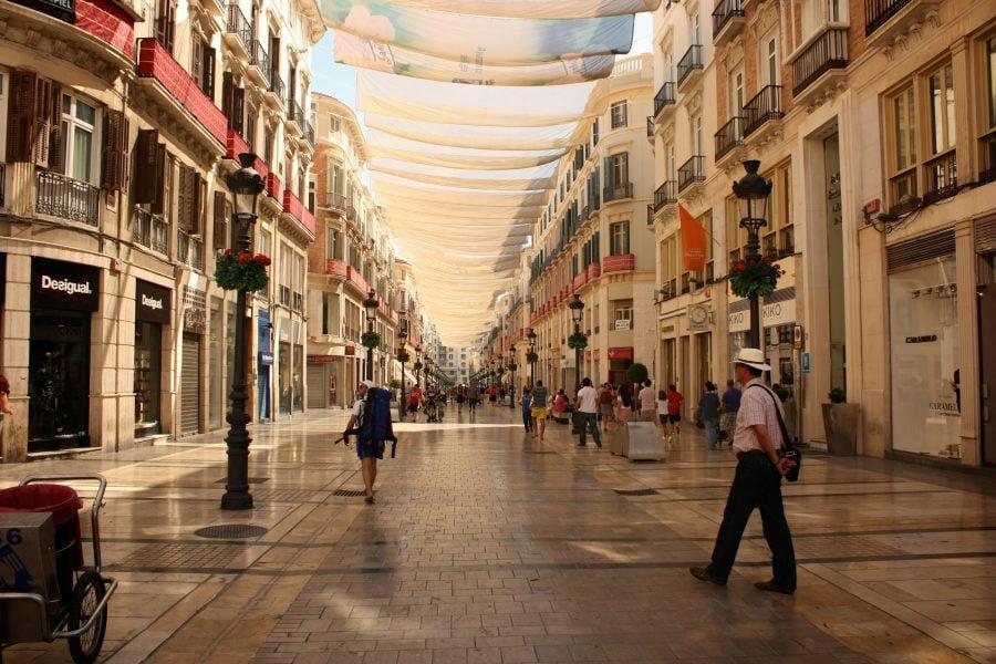 Strada de shopping Calle Marques de Larios, Malaga, Costa del Sol