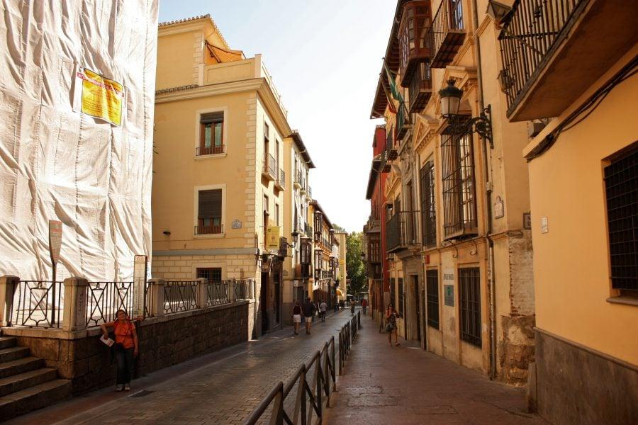 Strazile din Albaicin, Granada, Andalusia, Spania
