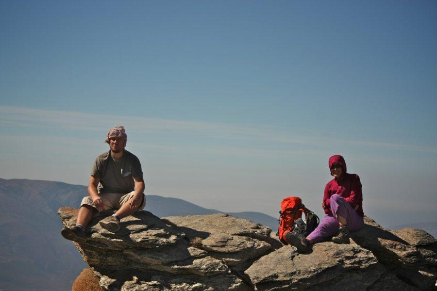 Turisti in Sierra Nevada, Spania