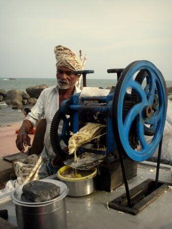 Aparat pentru suc de trestie de zahăr in India, Kanyakumari