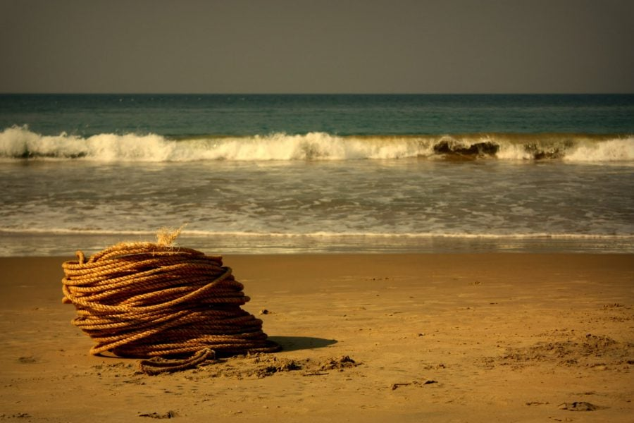 Funia pescarilor, plaja Kovalam, Kerala, India