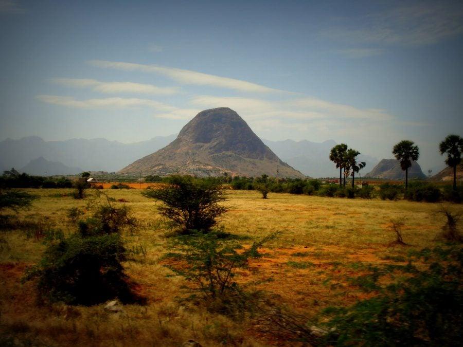 Peisaj indian între Kanyakumari și Tirunelveli, Tamil Nadu