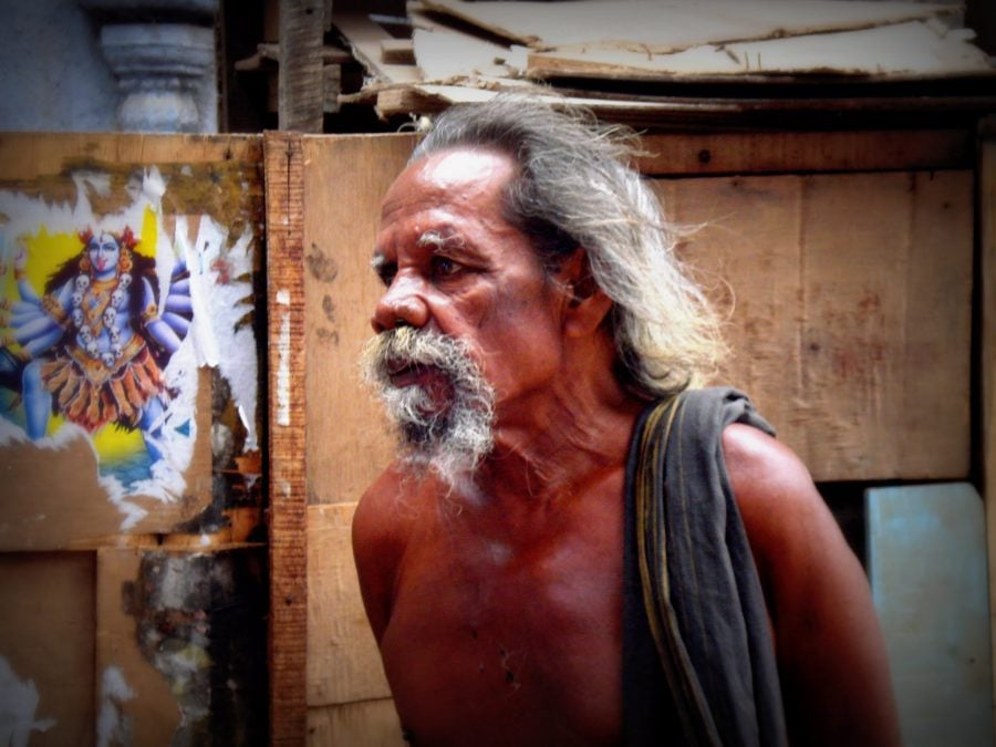 Portret de indian, Kanyakumari - cel mai sudic punct al Indiei