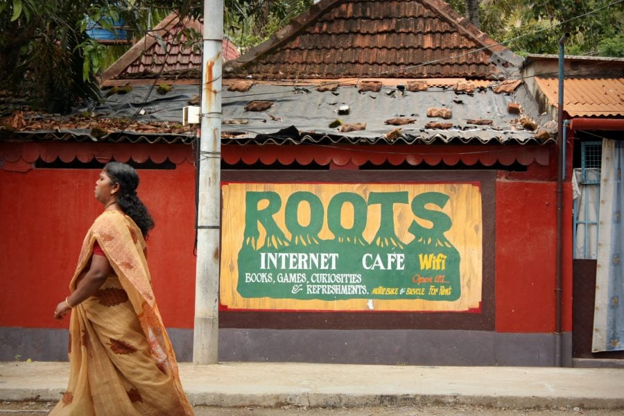 Roots Internet Cafe și indiancă, Fort Kochi (Fort Cochin), India