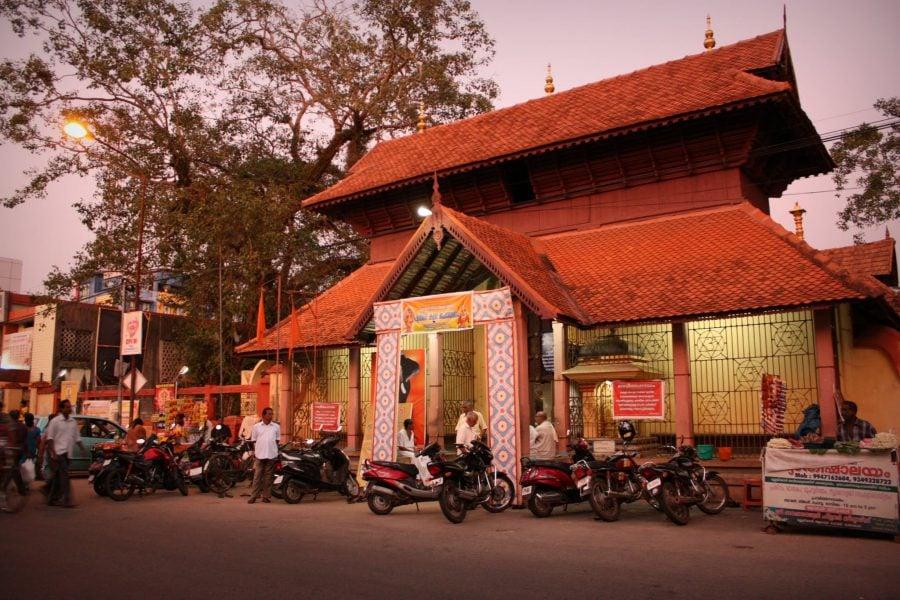 Unul dintre templele din Alappuzha, Kerala
