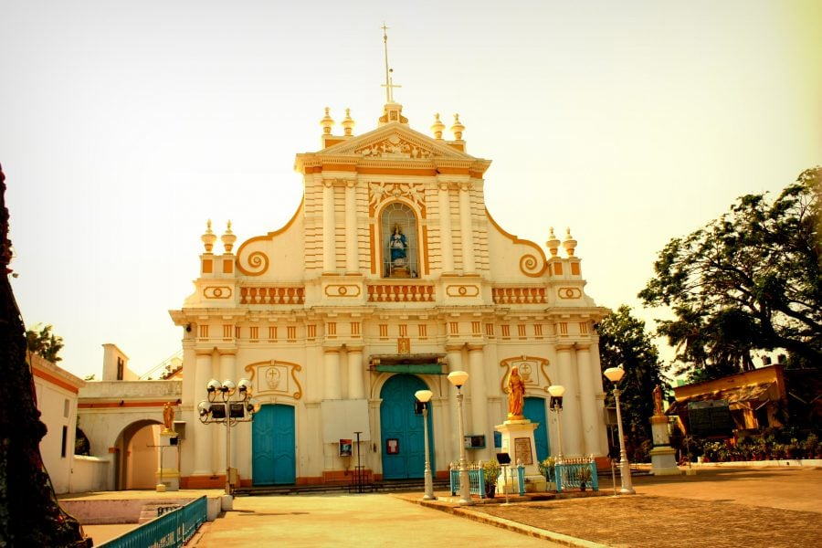 Catedrală creștină din Pondicherry (Puducherry), Tamil Nadu, India