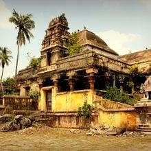 Curtea interioară a templului Nataraja, Chidambaram, Tamil Nadu, India