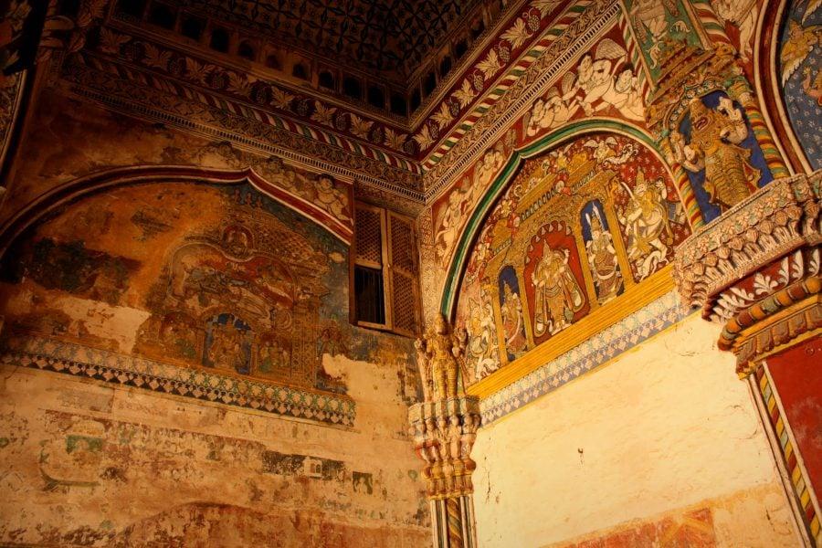 Palatul regal Durbar Hall, Thanjavur, Tamil Nadu, India