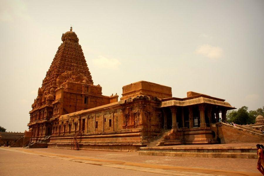 Templul portocaliu Bihadeswarar, Thanjavur, sudul Indiei