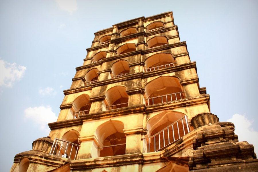 Turn al Palatului Regal din Thanjavur, Tamil Nadu, India