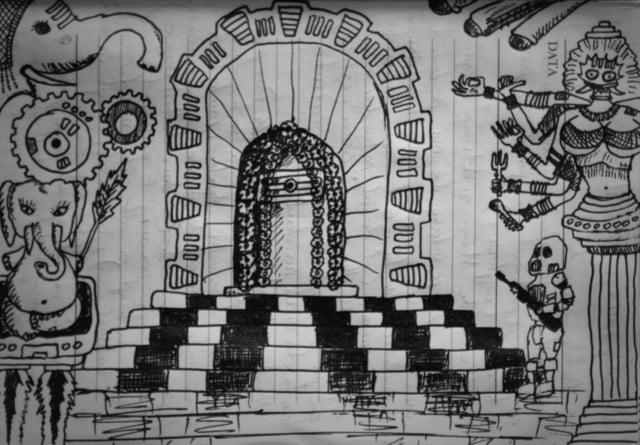 Un templu indian prin ochii unui european