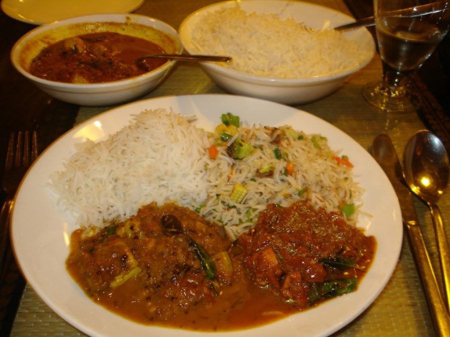 Mustard Fish Curry, Madurai Fish Curry si Vegetable Fried Rice, Tamil Nadu, India