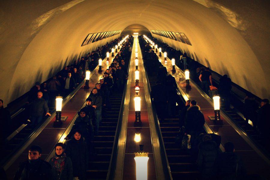 Metroul din Moscova - scari rulante