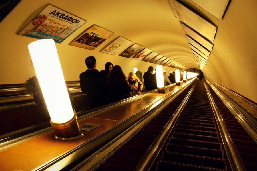 Scări rulante - metroul din Moscova