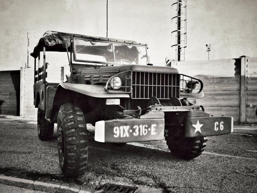 Autovehicul armată, expoziție în Italia