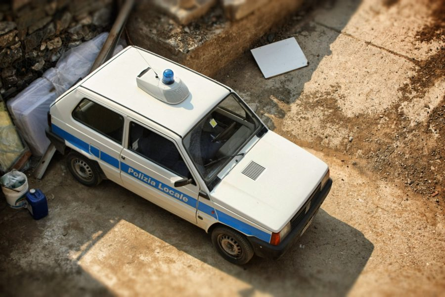 Mașina poliției italiene, Vernazza, Cinque Terre