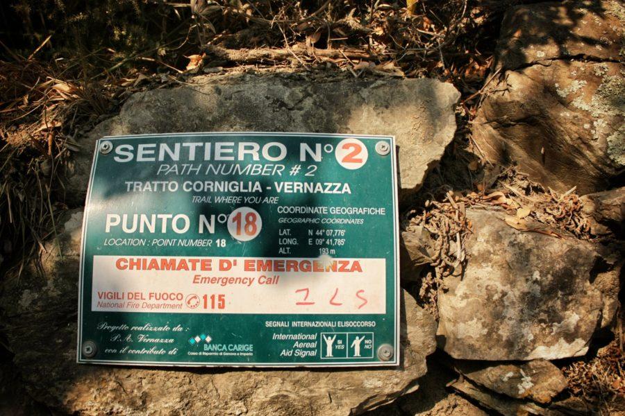 Traseu între satele din Cinque Terre,