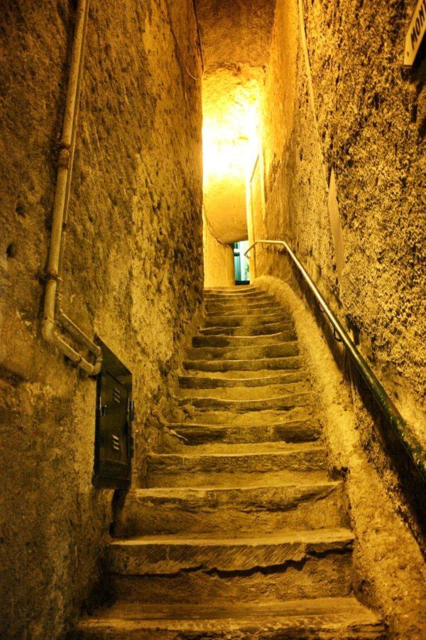 Trepte și străzi înguste în Vernazza, Cinque Terre