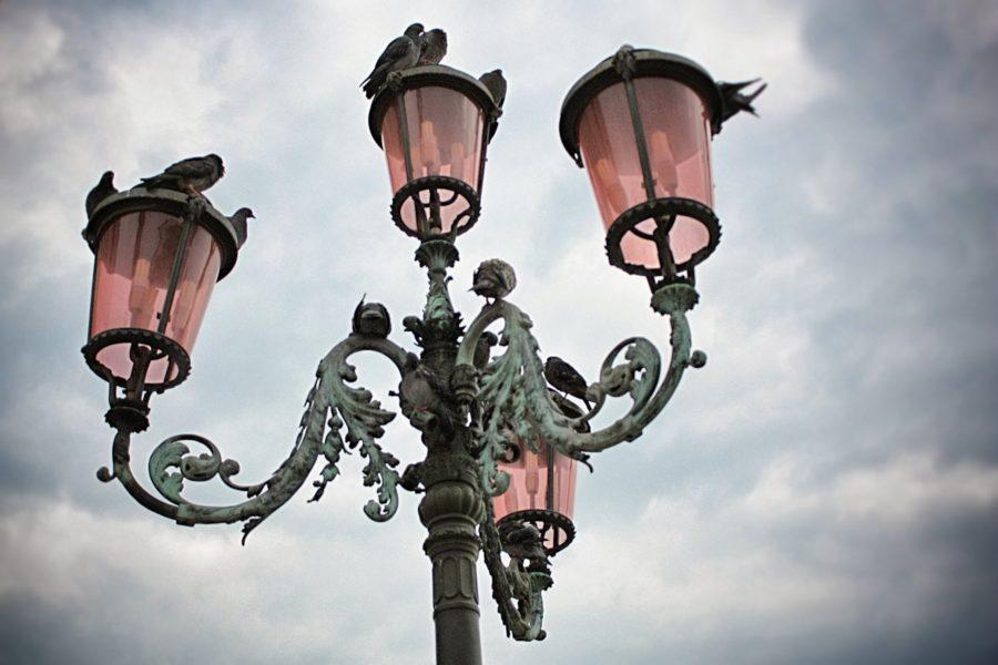 Candelabru iluminat stradal în Veneția