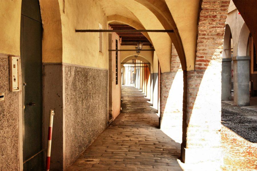 Arcade în vechiul Padova, Italia