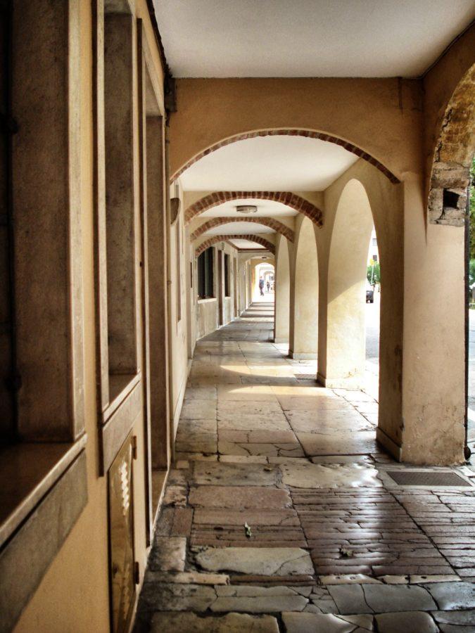 Arcade în vechiul Treviso, Italia