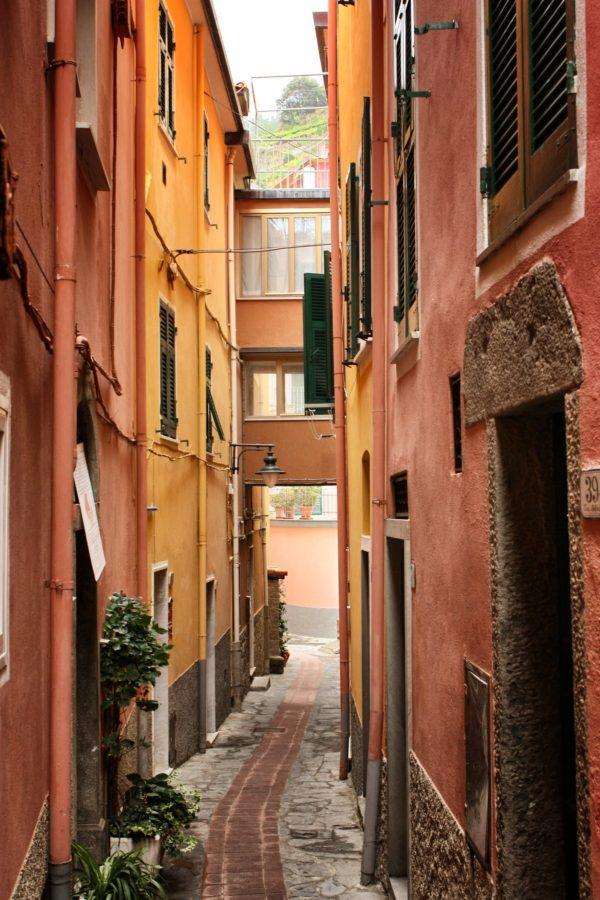 Clădirile din Manarola,Cinque Terre, Liguria
