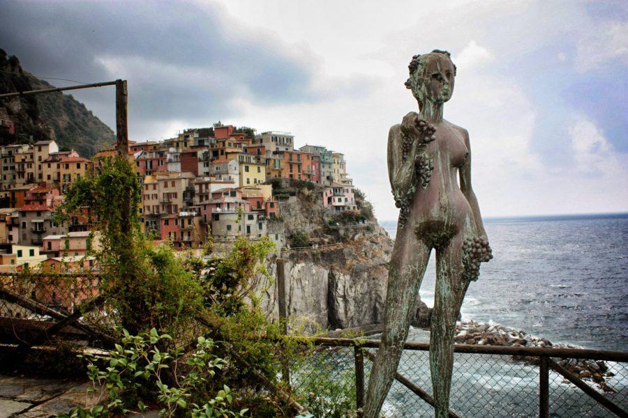 Manarola văzută din cimitirul satului, Cinque Terre
