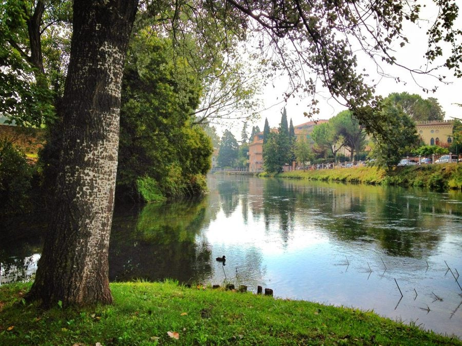 Parc cu râu în Treviso, Italia