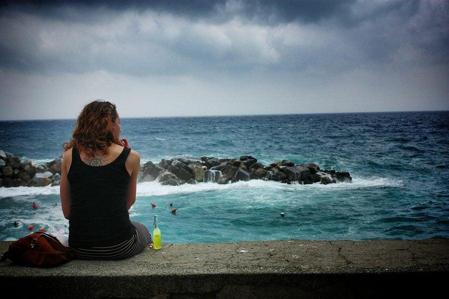 In Riomaggiore, Cinque Terre, Italia