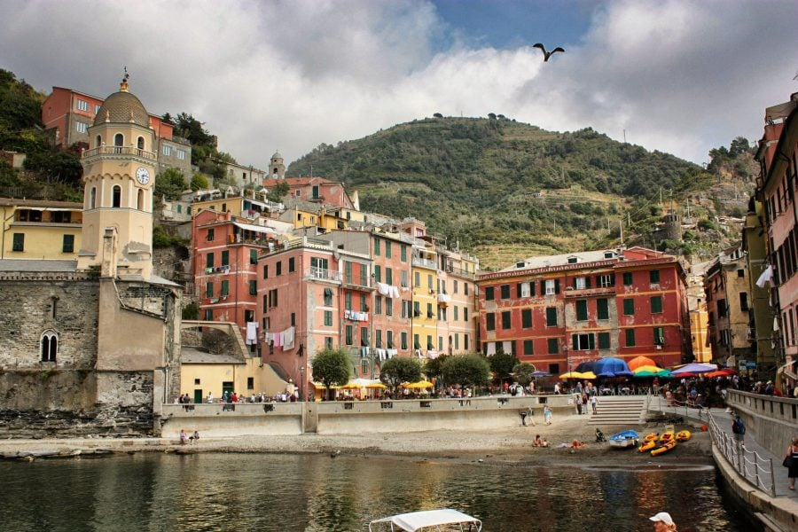 Portul din Vernazza, Cinque Terre, Italia