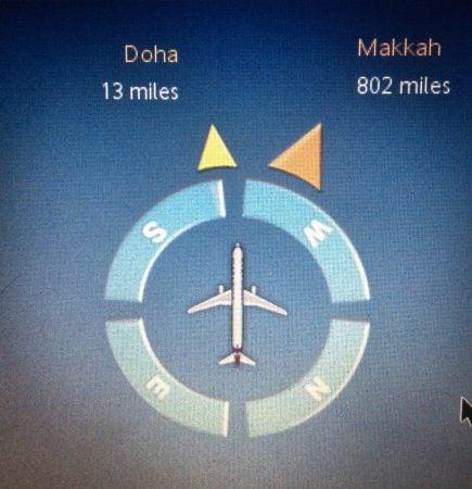 Display avion distanta Mecca