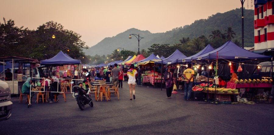 Piața de noapte din Kuah, Langkawi
