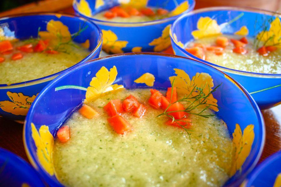 Supă crudă de castravete cu papaya