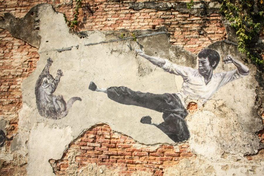 Penang Street Art - Kung Fu Cat