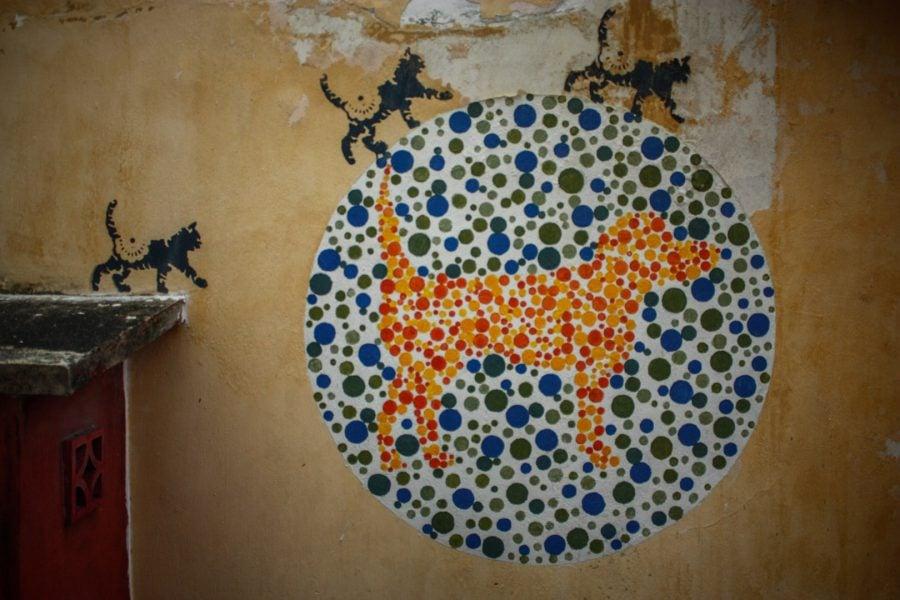 Penang Street Art - Pisci discromate
