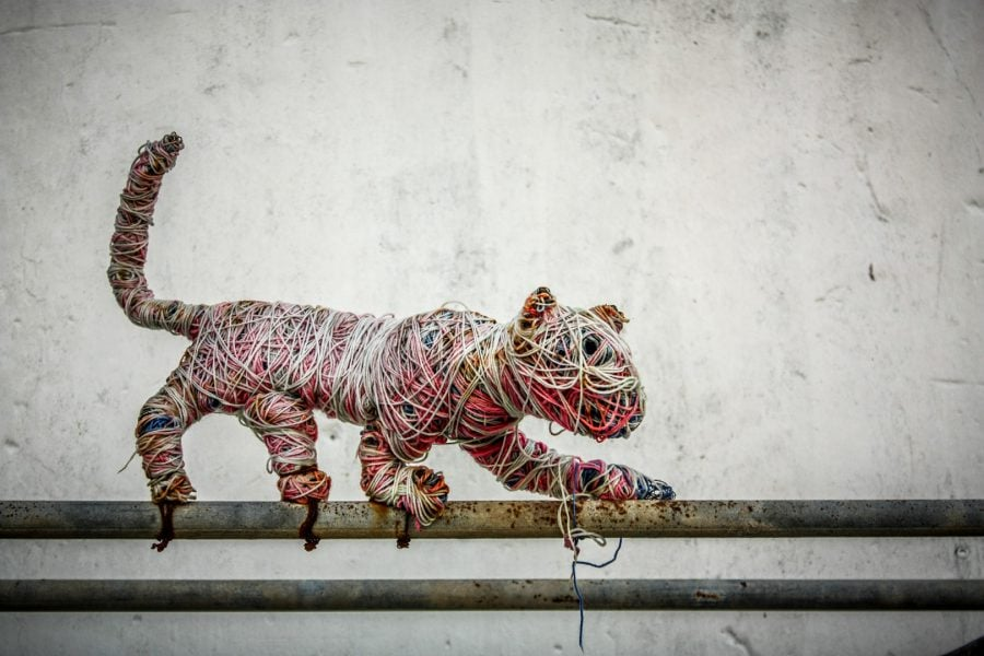 Penang Street Art - Pisica acrobată