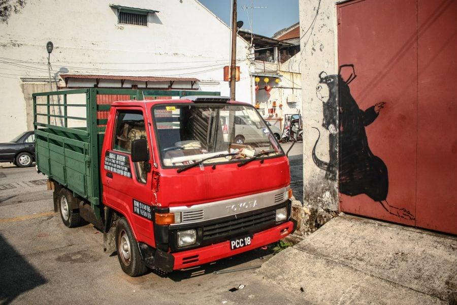 Penang Street Art - Şobolanul curajos