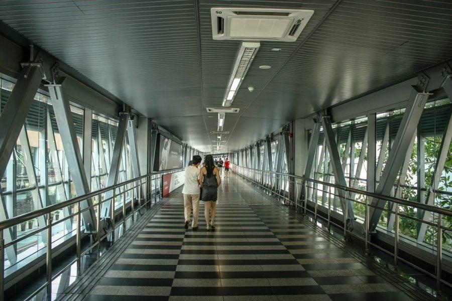 Pasarelă între mall-uri în Kuala Lumpur