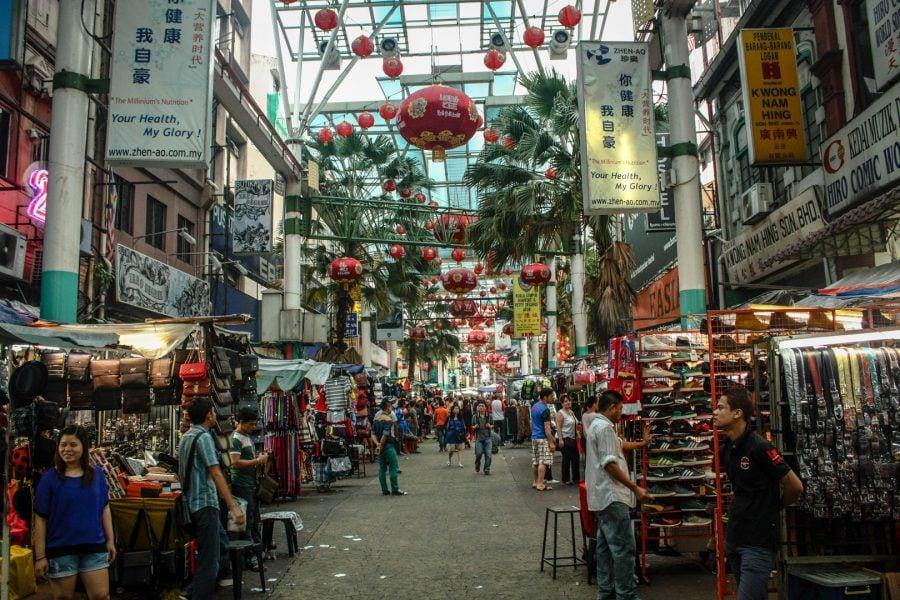 Strada Petaling din Kuala Lumpur