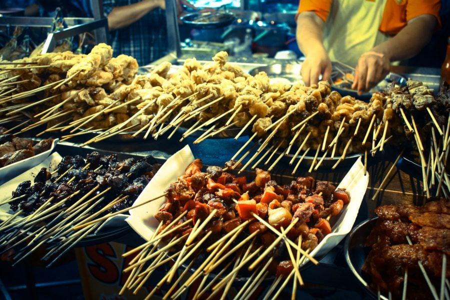 Mâncare pe băț, Strada Alor, Kuala Lumpur
