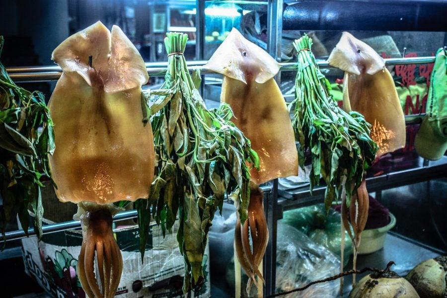Caracatițe la restaurant, Kuala Lumpur
