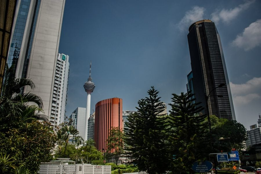Bloc roz în Kuala Lumpur