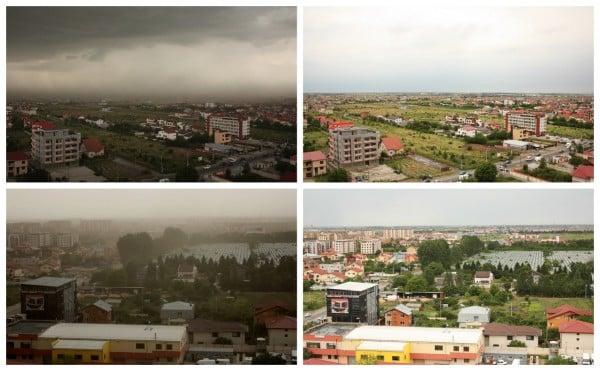 Furtună înainte și după