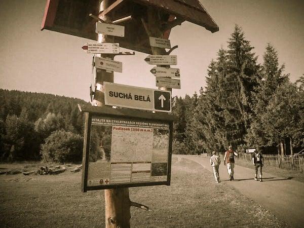 Indicatoare trasee montane, Podlesok, Slovacia